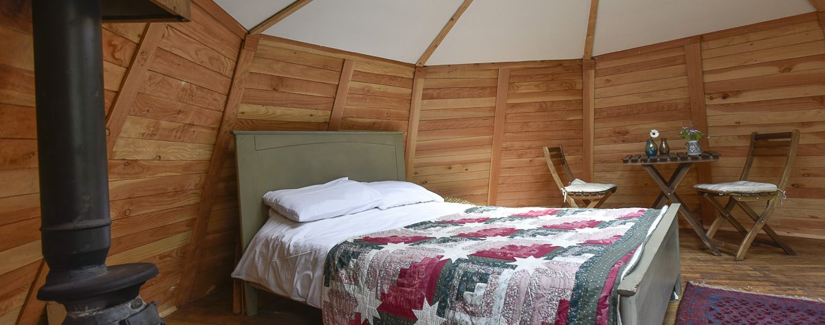 Inside with bed